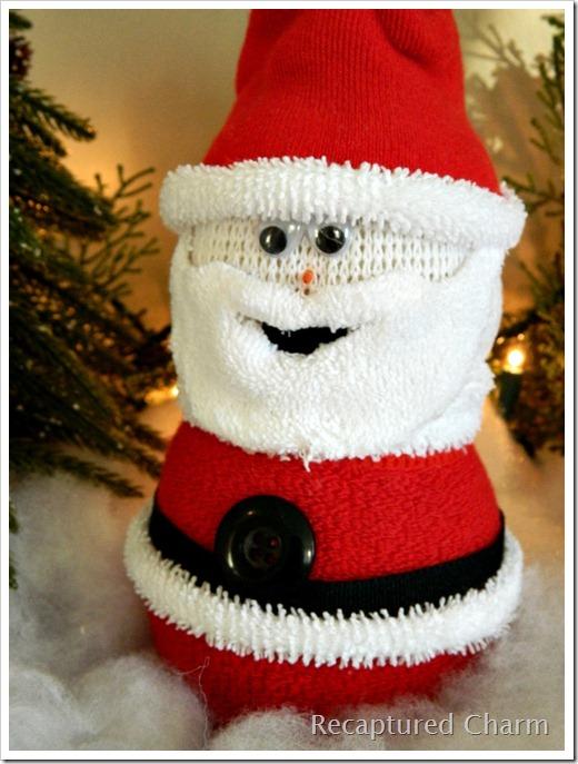 Sock Snowman Sock Santa 026a