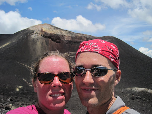 Next to the new crater on Cerro Negro