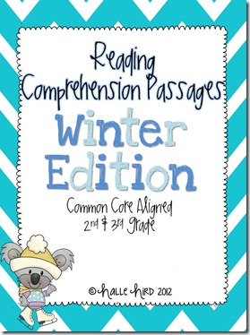 Winter Comprehension Sheets Cover