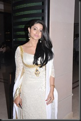 Sneha in white dress