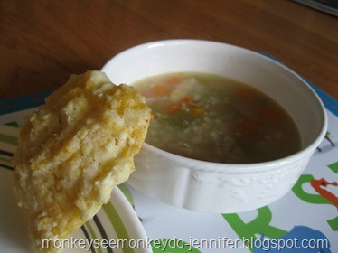 chicken rice soup and cheddar biscuit (1)
