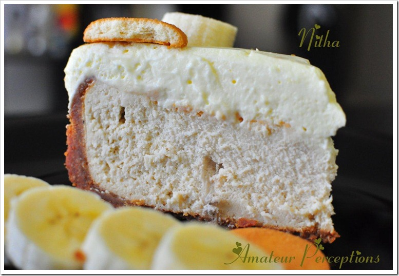 Banana Cream Cheese Cake 3