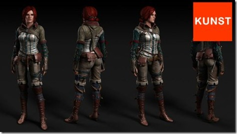 the witcher 2 3d models 01