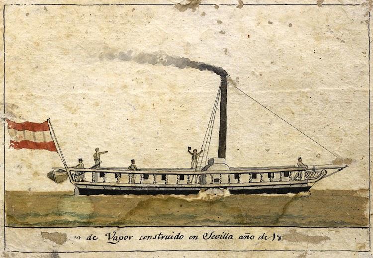 Escuela Española. Siglo XIX. Acuarela. Representación del vapor REAL FERNANDO. De la web ARTE INFORMACION Y GESTION.jpg