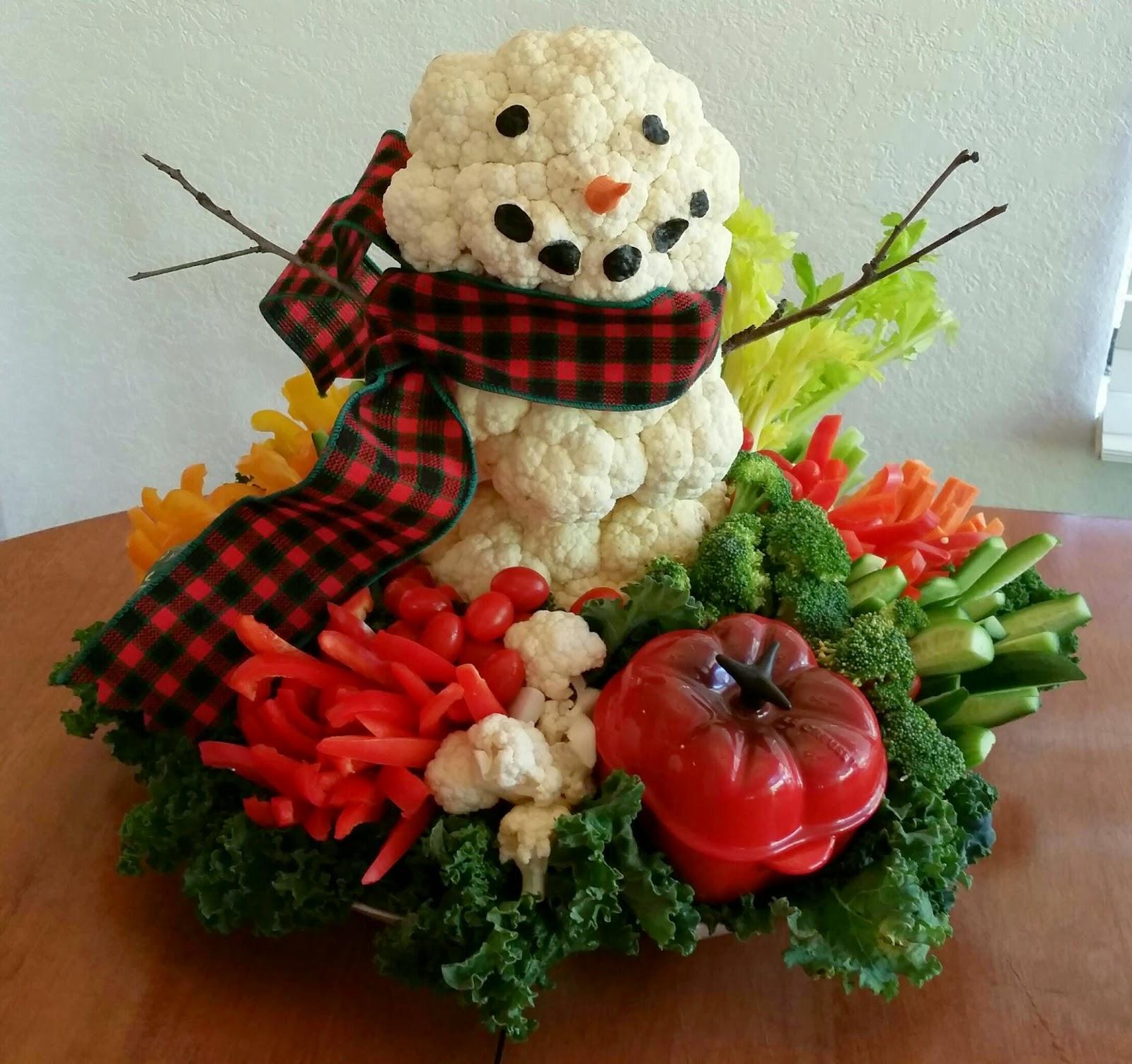 Veggie Snowman Platter
