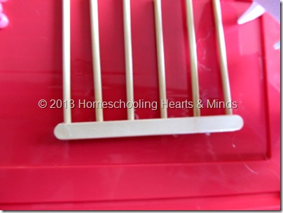 step 4 for making your own abacus @Homeschooling Hearts & Minds