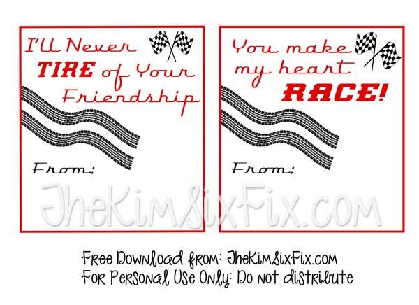 Free Printable Car Valentines