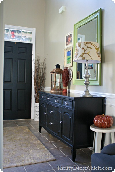dresser as foyer table
