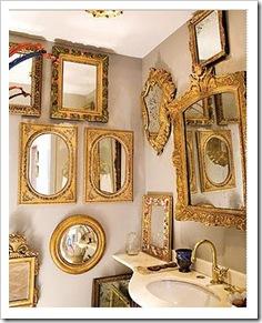 vários espelhos