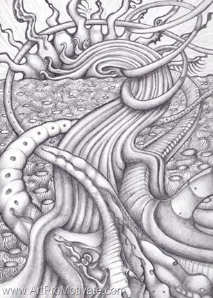 ray hope surreal drawing