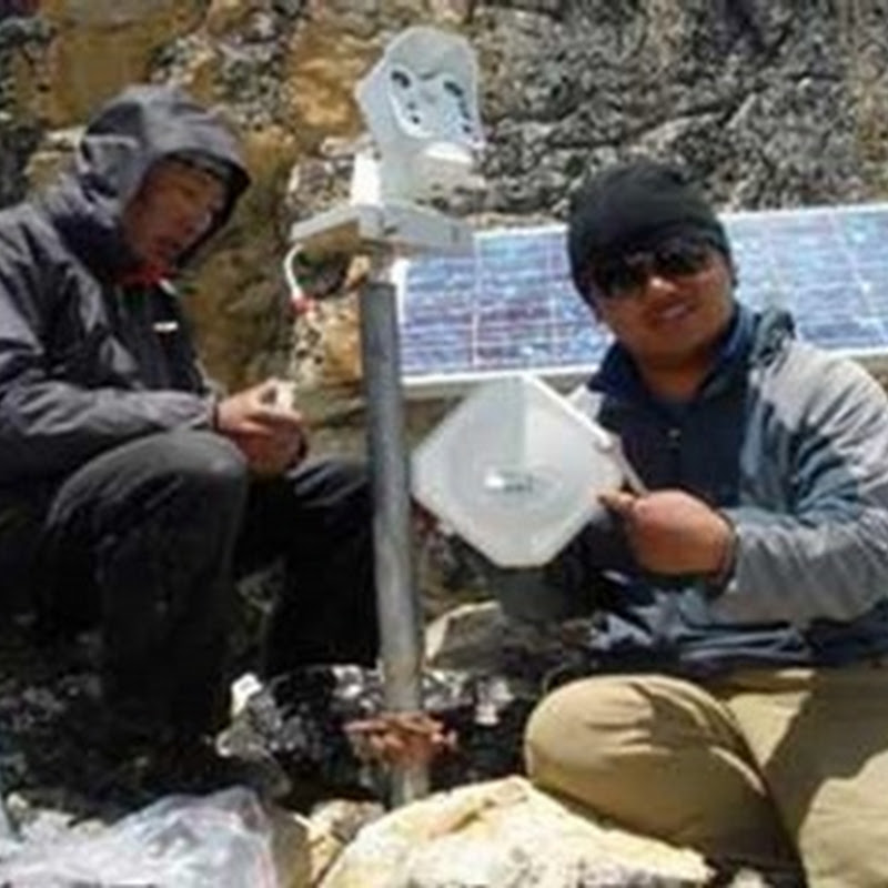 Instalan cámara web que funciona con energía solar para investigar cambio climático desde los Himalayas