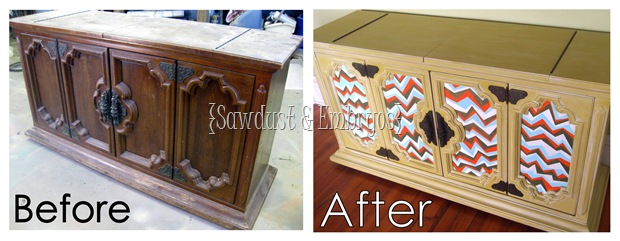 Before and After Buffet (Zigzag Painting Technique)