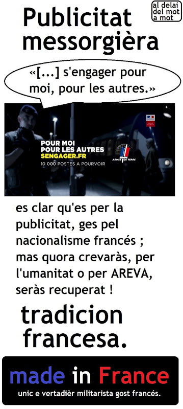 publicitat messorgièra armada francesa