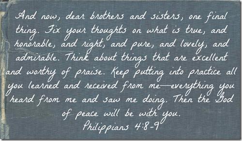 Philippians 4 8-9