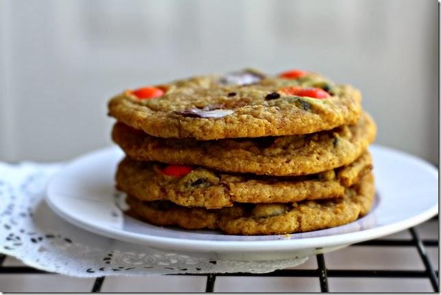 Pumpkin Candy Corn Cookies