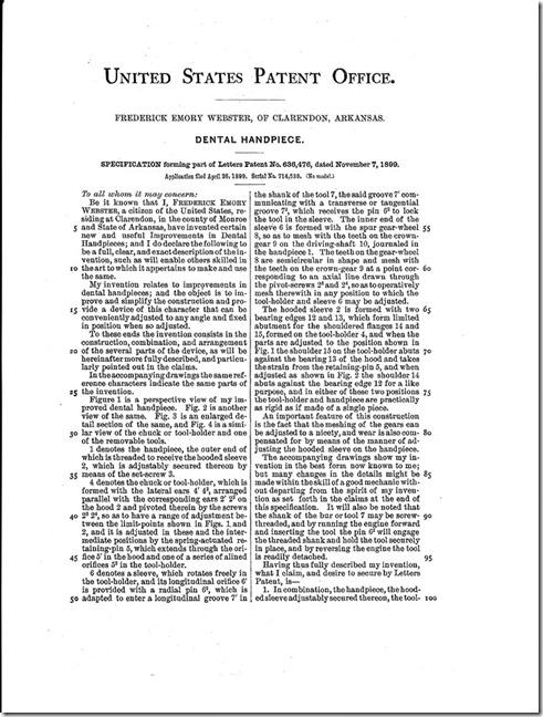 Frederick Emory Webster Patent Pg. 2
