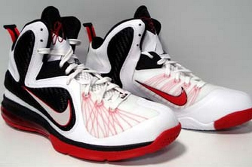 Nike LeBron 9 WhiteBlackRed 8220Miami Heat8221 Home