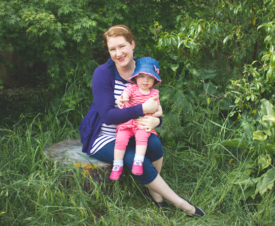 Mother and daughter in matching stripes | Lavender & Twill