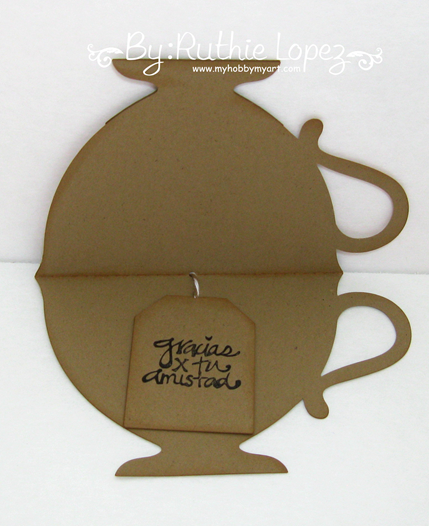Mosipis - Chevron I - Tea bag dispenser - Tea cup card - Ruthie Lopez - My Hobby My Art 5