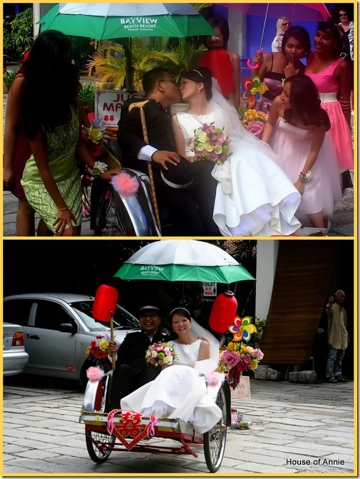 Just Married Trishaw