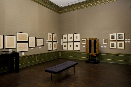 The third gallery of the second floor shows provocative sketches by various artists.