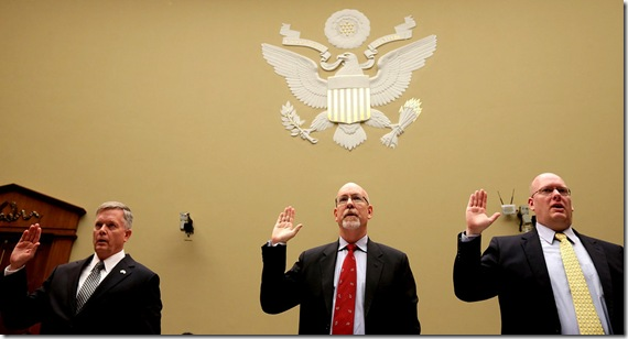 Mark Thompson, Greg Hicks, Eric Nordstrom. Benghazi Whistleblowers
