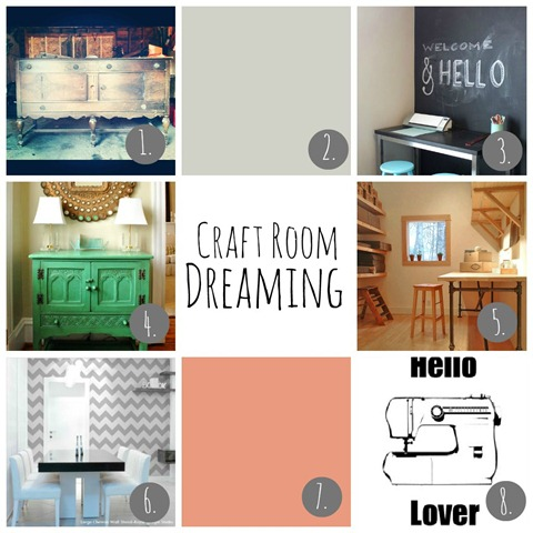 Craft Room Mood Board by Decor and the Dog
