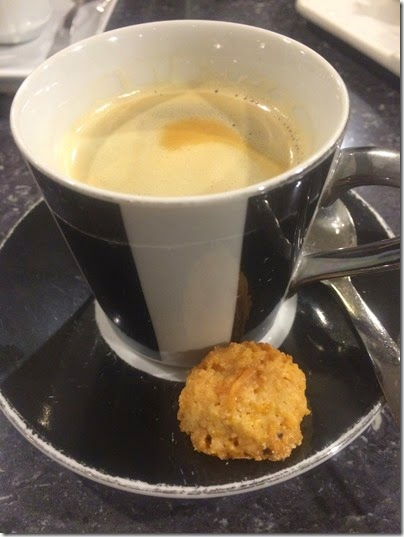 Brewed Coffee and orange cookie