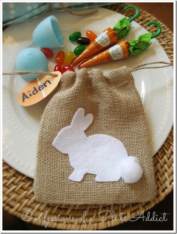 CONFESSIONS OF A PLATE ADDICT No-Sew Burlap Bunny Treat Bag