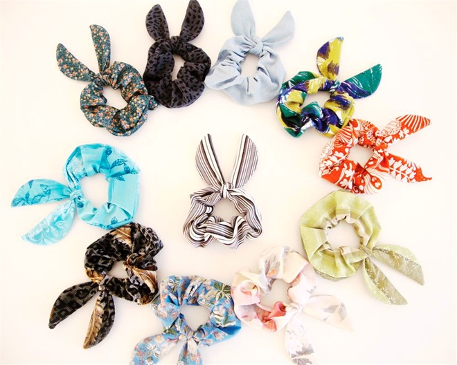 Bunny Ear Scrunchies Eco Friendly by 3 Ptice