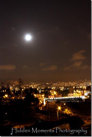 Moonrise over Lima