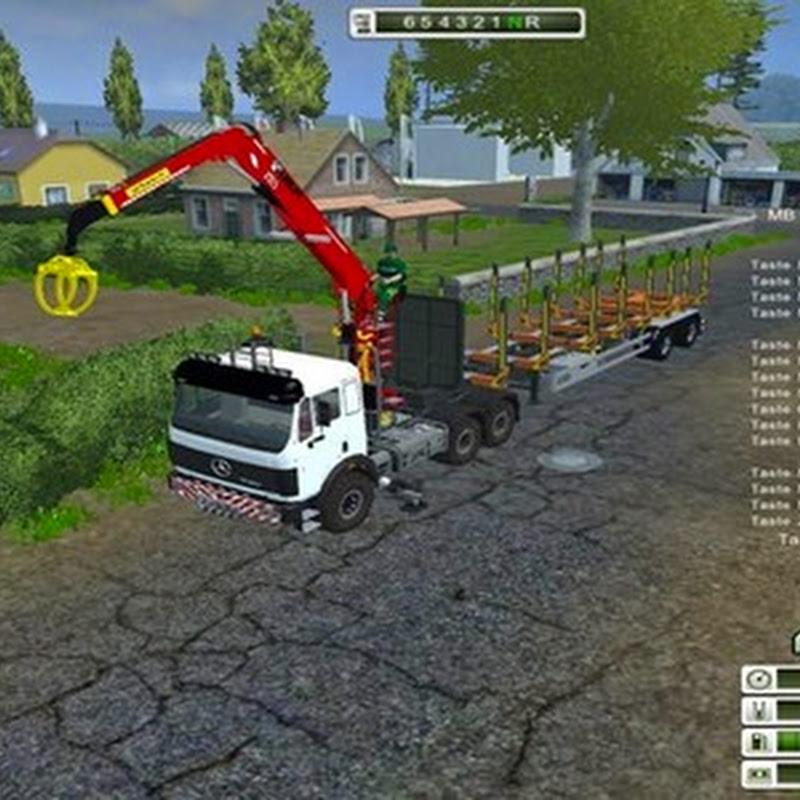 Farming simulator 2013 - Mercedes Benz SK 2653 timber loader v 2.0