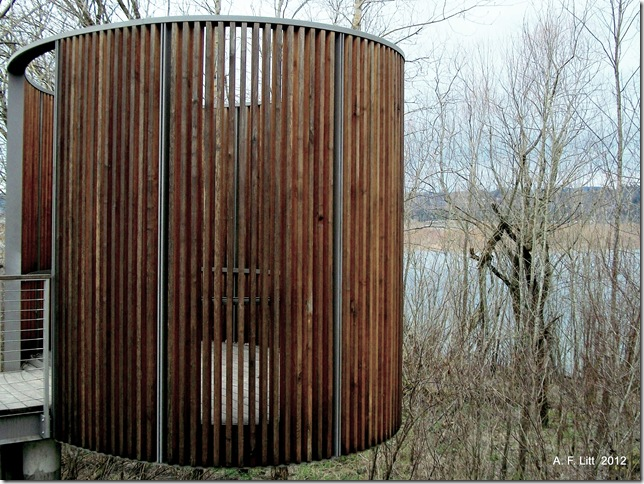 Confluence Project Bird Blind. Sandy River Delta. Troutdale, Oregon. February 27, 2011. Photo of the day, May 21, 2012.
