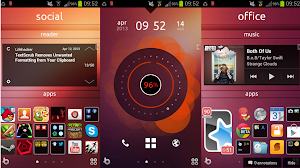 look Ubuntu Phone in uno smartphone Android