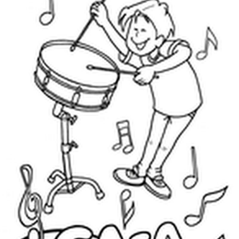 Colorear Instrumentos de percusión