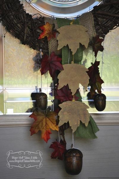 Fall acorn wreath tutorial