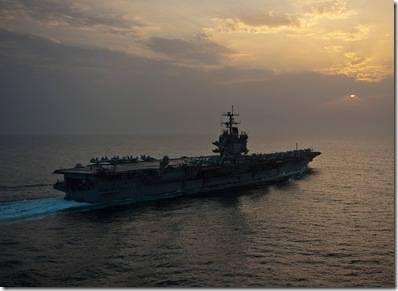 USS Enterprise is underway on her final deployment.