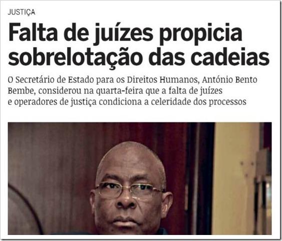 Faltam Juizes em Angola