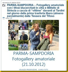 parma sampdoria fotogallery amatoriale