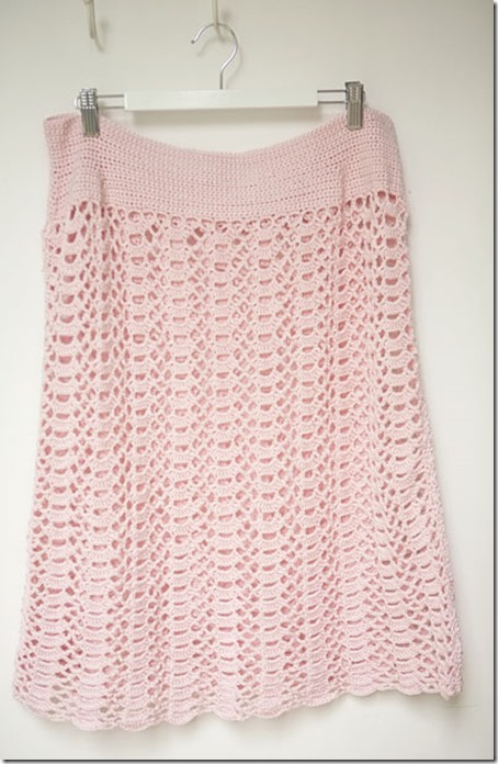 Pink crochet skirt4