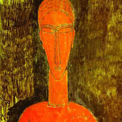 Modigliani, Red Bust 1913.jpg