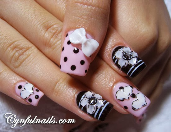 15 Best 3D Acrylic Nail Art Designs Ideas 2013 For Girls 41 Best Acrylic Nail Designs