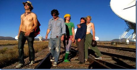 The Lonely Astronauts (l-r) Joseph Arthur, KJJ, Sibyl Buck, G Wiz, Jen Turner