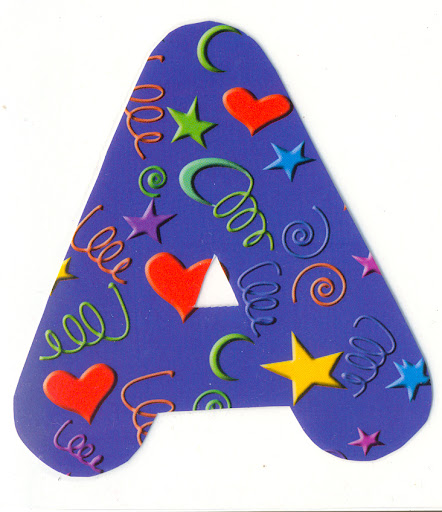 Moldes de letras para imprimir coloridos - Letras grandes decoradas ...