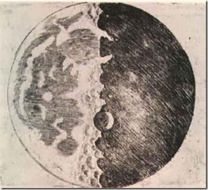 galileu desenho da lua