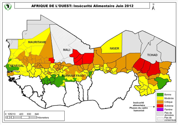 Food insecurity in West Africa, June 2012. One-and-a-half-million children are in imminent danger of starvation in West Africa, according to The United Nations Children's Fund, despite recent pledges of international aid. fao.org