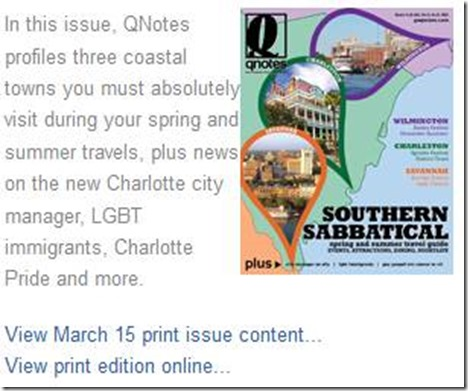 QNotes Gay Charlotte and LGBT Carolina News, Arts & Entertainment_2013-03-15