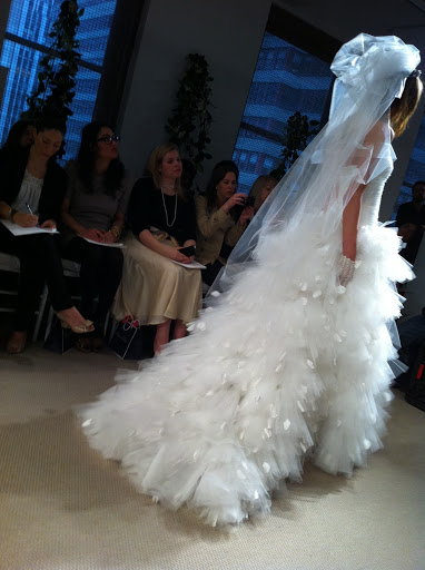 Isn't the skirt on this gown dreamy?