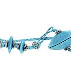 Nowoczesna obejma dekoracyjna do zasłon i tkanin z magnesem. Błękitna.