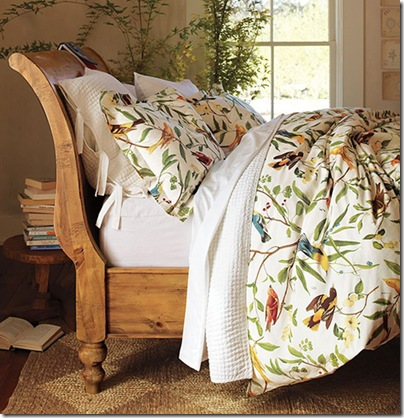 bird motif bedding